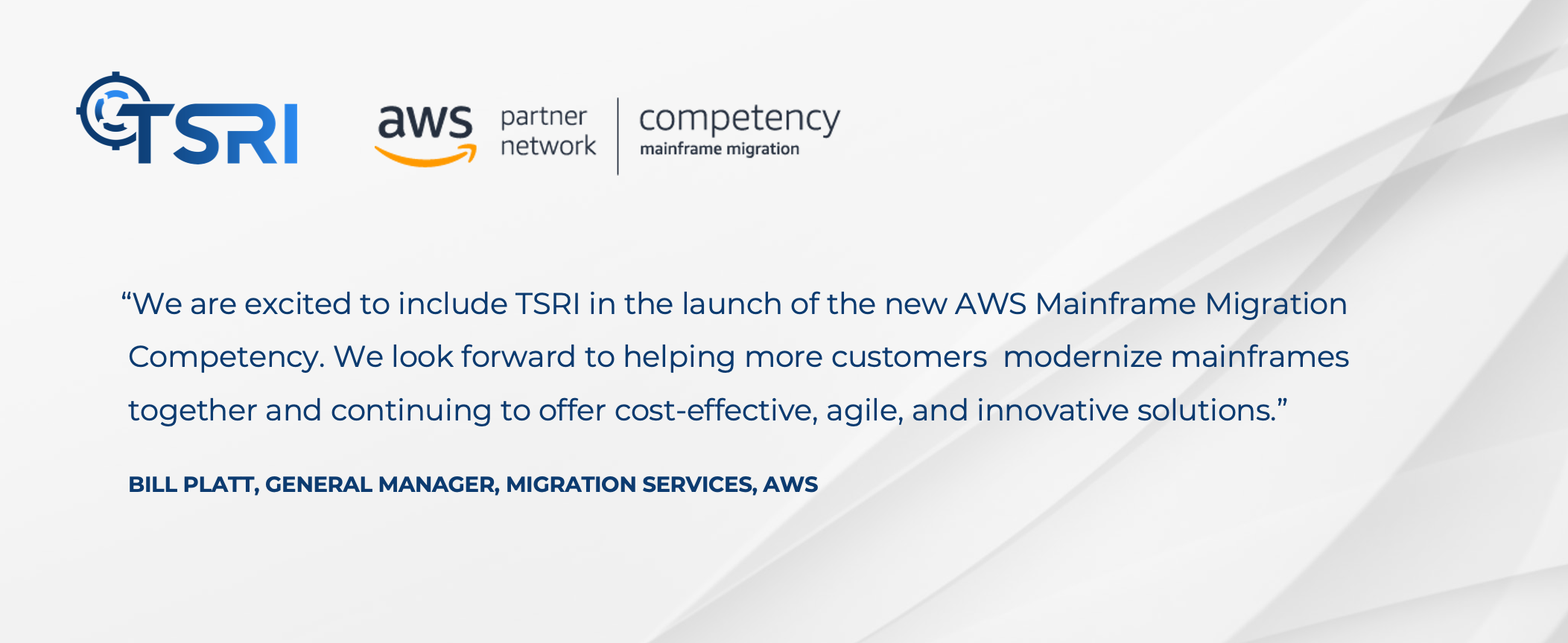 TSRI AWS Migration Competency Announcement